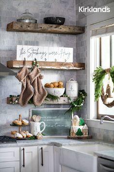 Christmas kitchen decor ideas! 😍 Tap the image to shop Christmas decor for your kitchen. 🎄