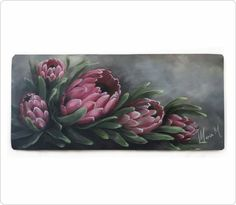 Maria M Protea Art, Protea Flower, List Of Paintings, Oil Paintings, Fabric Painting, Painting & Drawing, Wooden Art, Print Pictures, Flower Art
