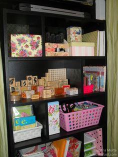 Organização: uma estante legal para materiais | Luciana Murta