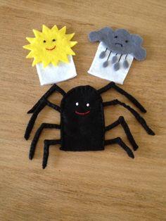 Felt finger puppets - Incy Wincy Spider !!! Xx