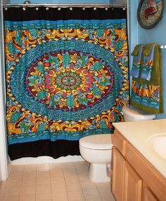 Bathroom set made with Repurposed Grateful Dead tapestry!  From Greatful Thread