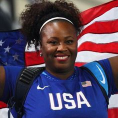"Huge Congrats to gold medalist: MICHELLE CARTER! !! 1st to ever earn the gold medal in ""shot-put"" in USA!!"