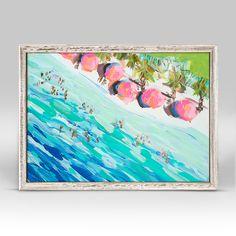 Overhead Beach Mini Framed Canvas