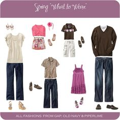 spring outfits - for family