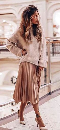 #fall #outfits women's beige sweater