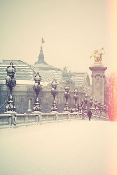 Paris // photography by the cherry blossom // paris-neige-7
