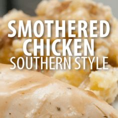 The Chew: Carla Hall Smothered Chicken Recipe with Buttermilk Gravy - MasterCook Southern Cooking Recipes, Southern Dishes, Southern Food, Southern Comfort, Southern Style, The Chew Recipes, Oven Recipes, Yummy Recipes, Dinner Recipes