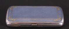 Gustav Gaudernack for David Andersen. Enamelled guilloche cigarette case. ca 1910