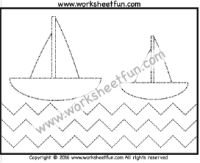 Zig Zag Line Tracing – One Worksheet