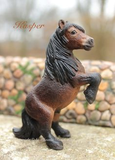 Schleich Miniature horse   Repainted Schleich Model horse, Falabella.