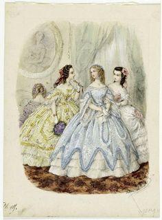Fashion plate, Toilettes de bal, 1859