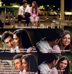 Yeh Jawaani Hai Deewani Yjhd Quotes, Filmy Quotes, Movie Dialogues, Bollywood Quotes, Movie Shots, Cute Celebrities, Bollywood Celebrities, Movie Couples, Movie Lines