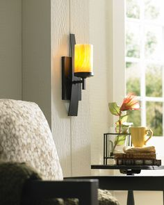 The Quoizel Kyle 1 Light Wall Sconce will lend dramatic flair to your home. Rustic yet contemporary, this distinctive piece is a work of. Decor, Wall Lamp, Wall Sconce Lighting, Wall Lights, Room Lights, Lamps Living Room, Wall Sconces, Beautiful Wall, Bronze Wall Sconce