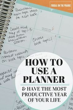 How to Use a Planner & Have the Most Productive Year of Your Life Ready to have the most productive year of your life? Today I'm talking about how to use a daily planner to help you organize your goals prioritize your tasks.