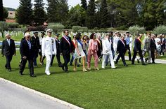 U.S. Navy Sailors gather with French civilians and military officials at the Rhone American Cemetery to honor the service members who died during the World War II Allied landing on Southern France code-named Operation Dragoon.