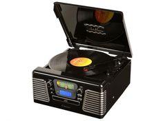 Vitrola Autorama Entrada USB SD Card CD Player Fita Cassete Rádio AM/FM - Ribeiro e Pavani - Vitrolas e toca discos