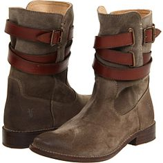"""Desperately wanting these Frye boots... Shirley Strappy Short in """"fatigue suede"""""""