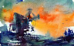 Watercolours by Mikko Tyllinen