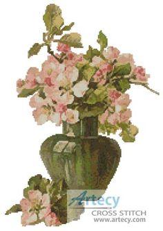 Artecy Cross Stitch. Blossoms Cross Stitch Pattern to print online.