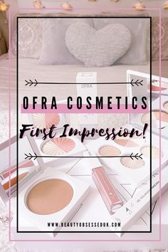 Ofra Cosmetics First Impression! [ Beauty Obsessed ] Ofra Highlighter, Bronzer, Love My Makeup, Makeup Looks, Rosy Pink, Champagne Color, Liquid Lipstick, Youtubers, Mascara