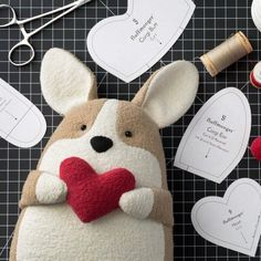 sewing projects for kids Corgi Sewing PatternMake an adorable stuffed corgi with this free sewing pattern and step-by-step tutorial with videos!Corgi pattern & instructions Source by Happy_FellasHow to Make a Stuffed Animal - Sewing MethodA felt ornament Sewing Basics, Sewing Hacks, Basic Sewing, Sewing Patterns Free Dog, Free Sewing, Pattern Sewing, Free Pattern, Sewing Toys, Sewing Crafts