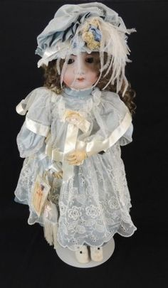 "Lot: Antique Simon Halbig 24"" Bisque Character Doll, Lot Number: 0031, Starting Bid: $50, Auctioneer: Matthew Bullock Auctioneers, Auction: Antique Dolls,Trains,Toys,Tractors, &Trucks, Date: December 31st, 2016 CET"