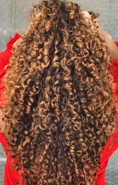 Dyed Curly Hair, Dyed Natural Hair, Colored Curly Hair, Curly Hair Tips, Curly Hair Styles, Natural Hair Styles, Blonde Highlights Curly Hair, Cute Curly Hairstyles, Aesthetic Hair