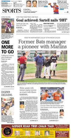 News Design: St. Cloud Times' May 18, 2014 sports cover