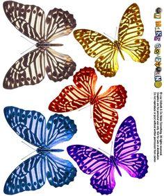 """une planche de motifs """"papillons"""" signée Go Make Something..."""