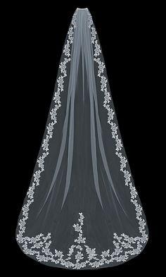 En Vogue Bridal Accessories - Cathedral Bridal Veil | V1597C (http://www.envogueaccessories.com/bridal-cathedral-tulle-veil-v1597c/)