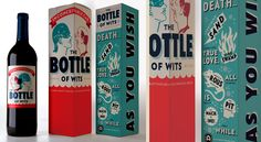 """The Bottle of Wits - limited edition wines for fans of """"The Princess Bride."""" The custom wine line includes two varietals: """"Inconceivable Cab"""" and """"As You Wish White"""". Inconceivable!"""
