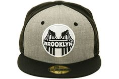 Hat Club Exclusive Brooklyn Lens Fitted Hat by New Era - Heather Gray 0d820472759