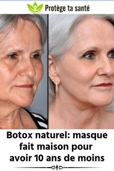 Natural Botox: homemade mask to be 10 years younger Diy Beauty, Beauty Hacks, Beauty Tips, Masque Anti Ride, Face Care, Skin Care, Natural Hair Mask, Homemade Mask, Skin Secrets