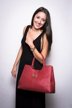 Anna Leather Tote (Aqua) by Pink Corporation | ilovehandbags.com ...