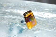 Glass ring Honey by Annie McMullan