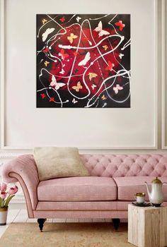 "a bit of red, and.... butterflies #butterflyart ""Scarlett Dream"" (gloss) butterfly collage art Collage art"