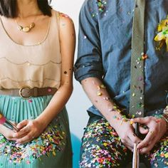 """Nothing says """"it's a party!"""" like confetti does! Fun ideas to incorporate confetti into your next wedding or party (via oh hello friend)"""