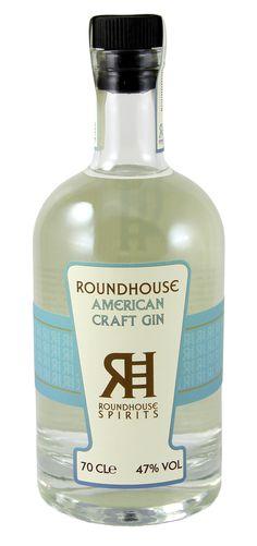 Roundhouse Gin Roundhouse Spirits #americanhandcraftgin #americangin #craftgin Liquor Bottles, Vodka Bottle, Rum, Juniperus Communis, Spirit Drink, Gin Tasting, Gin Brands, Geneva, Cocktails