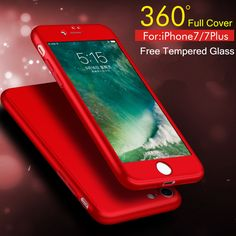 Mobile Phone Bags Cases New Ultra Slim Case for Apple iPhone 6 6S 7 Plus iPhone7 Plus Full Protective Cover 360 Degrees Back Cover  Free Glass Film -- This is an AliExpress affiliate pin.  Find similar products on AliExpress website by clicking the VISIT button
