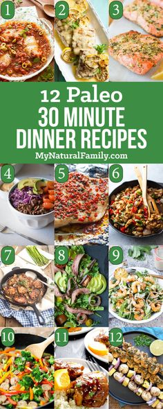 Quick and easy Paleo dinners