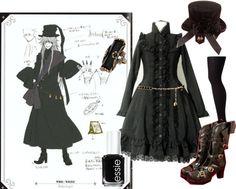 """Kuroshitsuji Lolita- Undertaker"" by meiki ❤ liked on Polyvore"