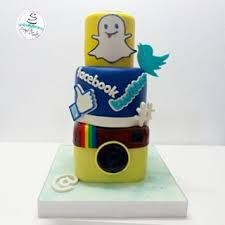 Resultado de imagen para tortas de redes sociales