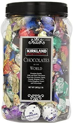 KIRKLAND Signature  Chocolates of the World in Assortment Jar, 2 lb. | shopswell