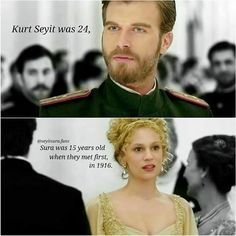 Seyit and Sura at her first ball in St. Petersburg, Russia in the Turkish TV series Kurt Seyit and Sura 2014