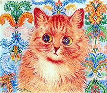 """He has made the cat his own. He invented a cat style, a cat society, a whole cat world. English cats that do not look and live like Louis Wain cats are ashamed of themselves."" — H. G. Wells on Louis Wain"
