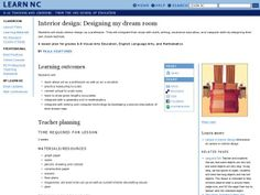 Interior Design Designing My Dream Room Lesson Plan