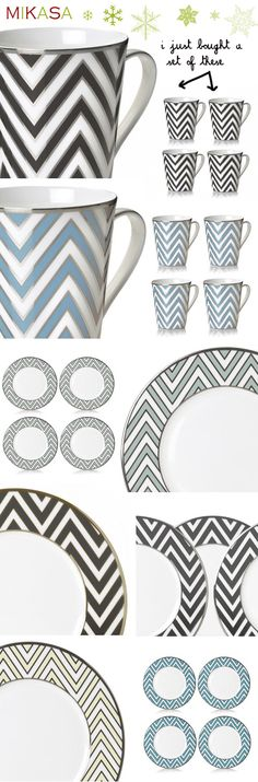 MadeByGirl: MIKASA....Chevron Plates & Mugs (Via Made By Girl)