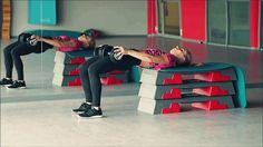 Fitness all day by Agata Zając: ćwiczenia siłowe  3. Wznosy bioder w oparci na ławeczce 4 serie x 12 (do 20) powtórzeń