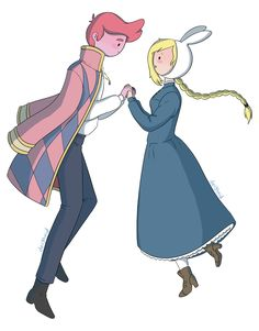 ... As much as I ship Gumball x Fionna, I feel like Marshall would be better for the portrayal of Howl. They have the same hair and personality, but Howl is a bit more temperamental. Gumball could be the prince, Jake as Calcifer, and Finn as Michael/Markl!