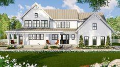 House plan number 14666RK - a beautiful 4 bedroom, 3 bathroom home.